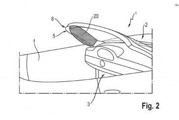 Porsche vient de déposer un brevet d'airbags sur les montants A pour la future Porsche 911 Cabriolet Type 992