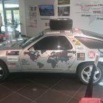 Exposition de la Porsche 928 GT du tour du Monde au Porsche Experience Center Le Mans