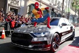 La nouvelle Audi A8 se dévoile en partie à l'occasion de la première du film «Spider-Man: Homecoming»