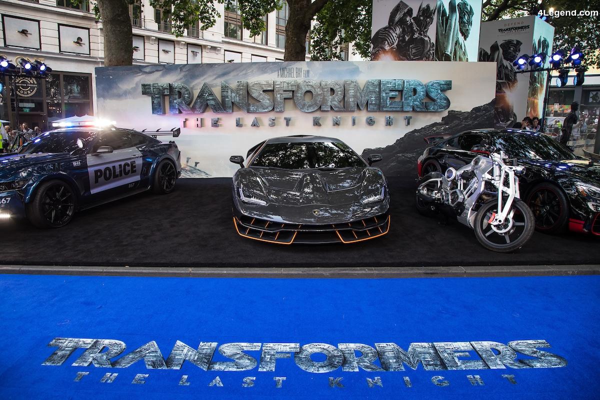 Apparition de la Lamborghini Centenario à la Première londonienne du film