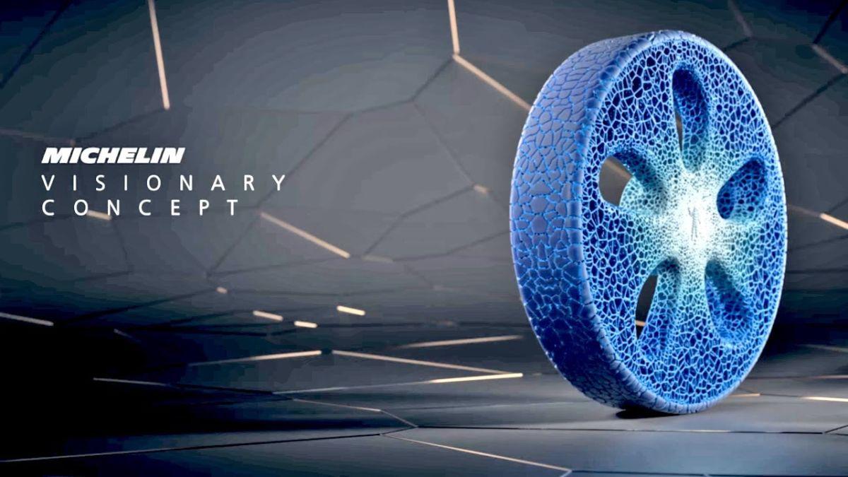 Pneu Concept Vision Michelin - Un pneu connecté imprimé en 3D et rechargeable en fonction de son usure