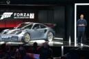 Présentation de la nouvelle Porsche 911 GT2 RS au salon vidéo E3 2017 à Los Angeles