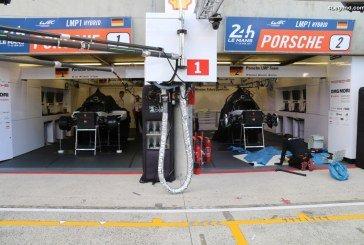 24H 2017 – Préparation des voitures avant la course – Porsche 919 hybrid & 911 RSR démontées