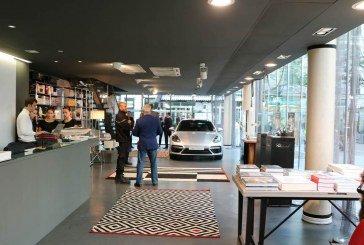 Ouverture d'un concept store éphémère Porsche à Paris pour l'avant-première de la Panamera Sport Turismo