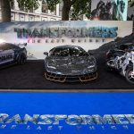 Apparition de la Lamborghini Centenario à la Première londonienne du film « Transformers: The Last Knight »