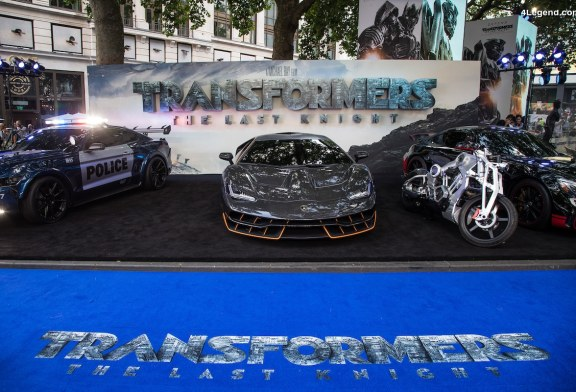 "Apparition de la Lamborghini Centenario à la Première londonienne du film ""Transformers: The Last Knight"""
