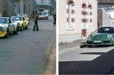La millionième Porsche 911 sur les traces des Porsche de course à Teloché à côté du Mans