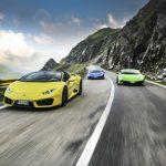 Roadtrip de six Lamborghini Huracán sur la Transfăgărăşan en Transylvanie
