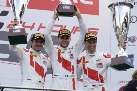 Audi célèbre sa quatrième victoire aux 24 heures de Spa 2017 avec son R8 LMS