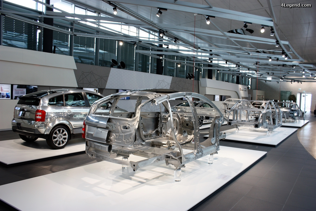 Audi Forum Neckarsulm: exposition body structure ASF.