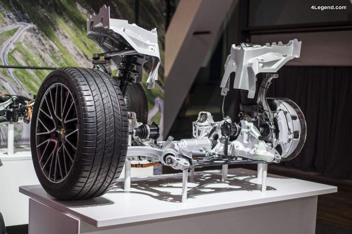 Détails du châssis du nouveau Porsche Cayenne 2017