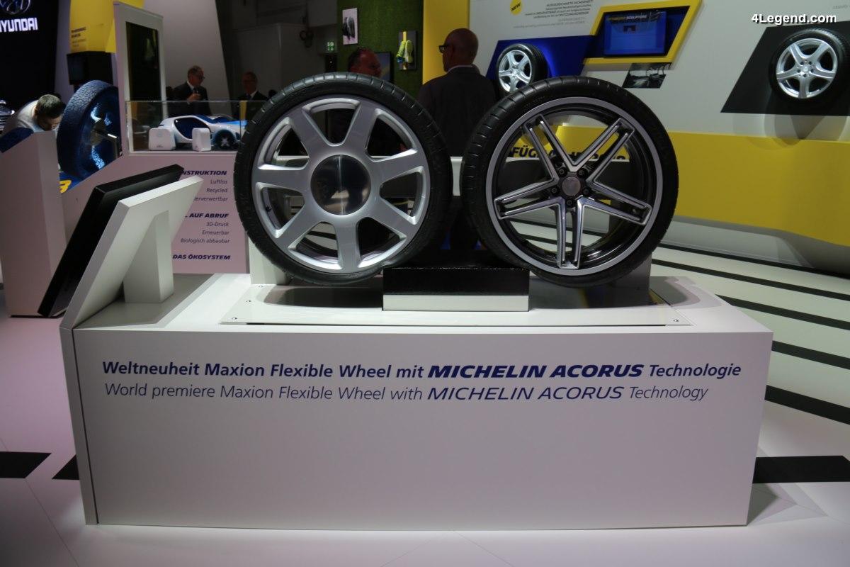 IAA 2017 - Michelin et Maxion présentent la roue flexible bénéficiant de la technologie Michelin Acorus