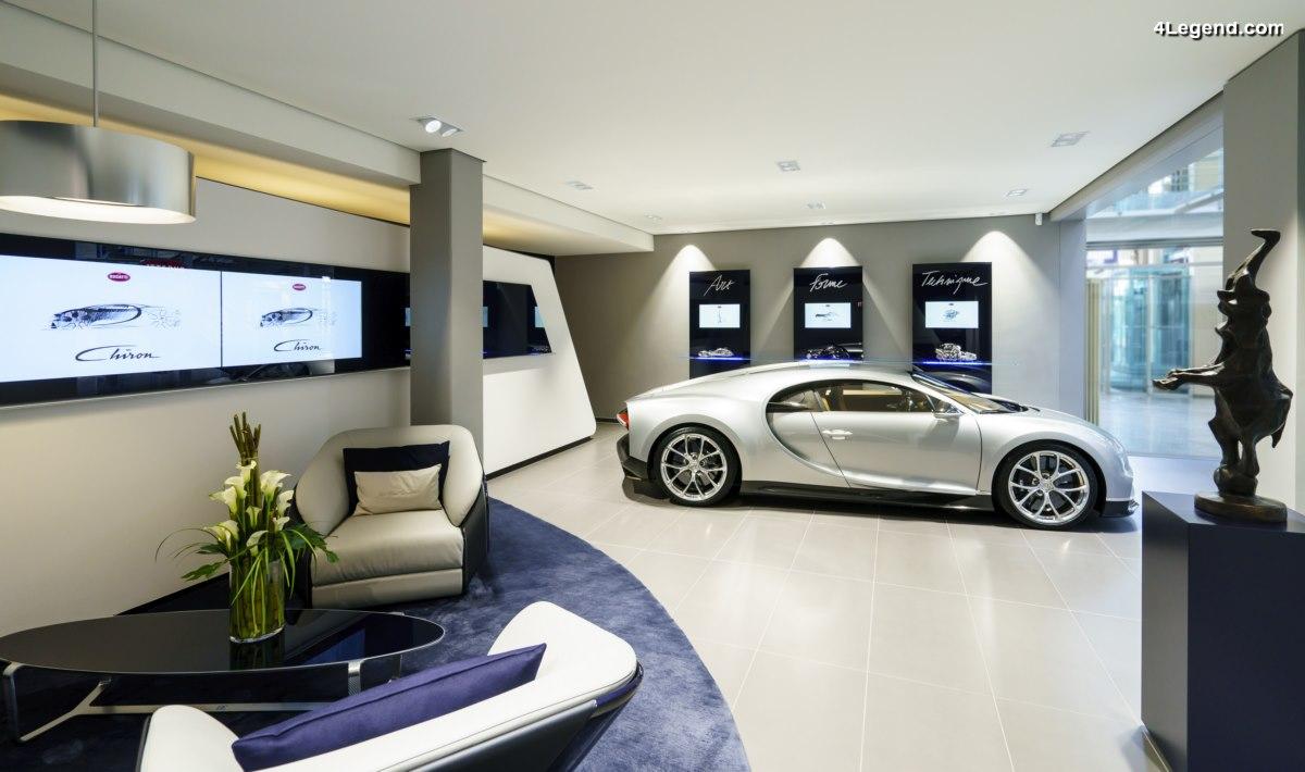 Bugatti inaugure un showroom au nouveau design à Hambourg