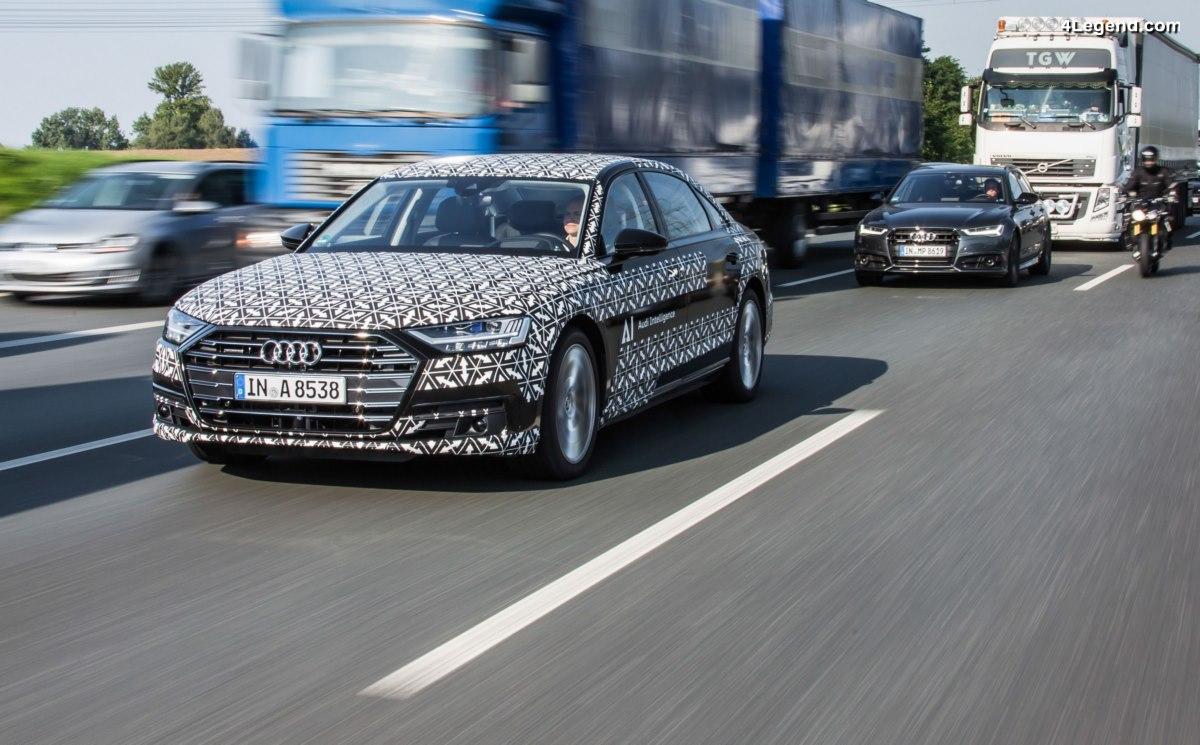Pilote automatique Audi AI traffic jam - La conduite autonome franchit une nouvelle étape sur l'Audi A8