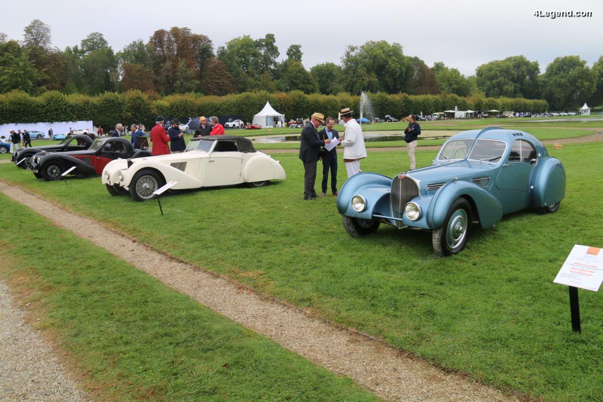 Chantilly 2017 - Exposition exceptionnelle de 4 Bugatti Type 57 S dont une Atlantic