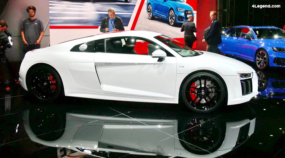 IAA 2017 - Audi R8 V10 RWS : 999 exemplaires et un tempérament joueur