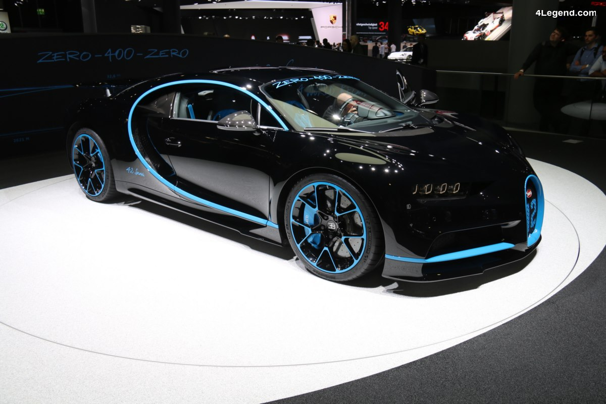 IAA 2017 - Bugatti Chiron ayant battu le record du monde du 0 - 400 - 0 km/h en moins de 42 s