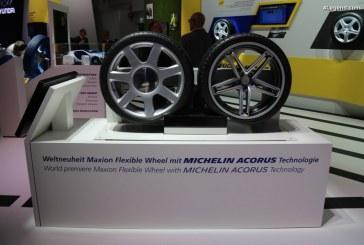 IAA 2017 – Michelin et Maxion présentent la roue flexible bénéficiant de la technologie Michelin Acorus