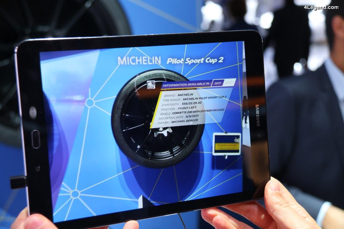 IAA 2017 - Michelin dévoile la technologie RFID issue de la compétition sur le pneu Michelin Sport Cup 2
