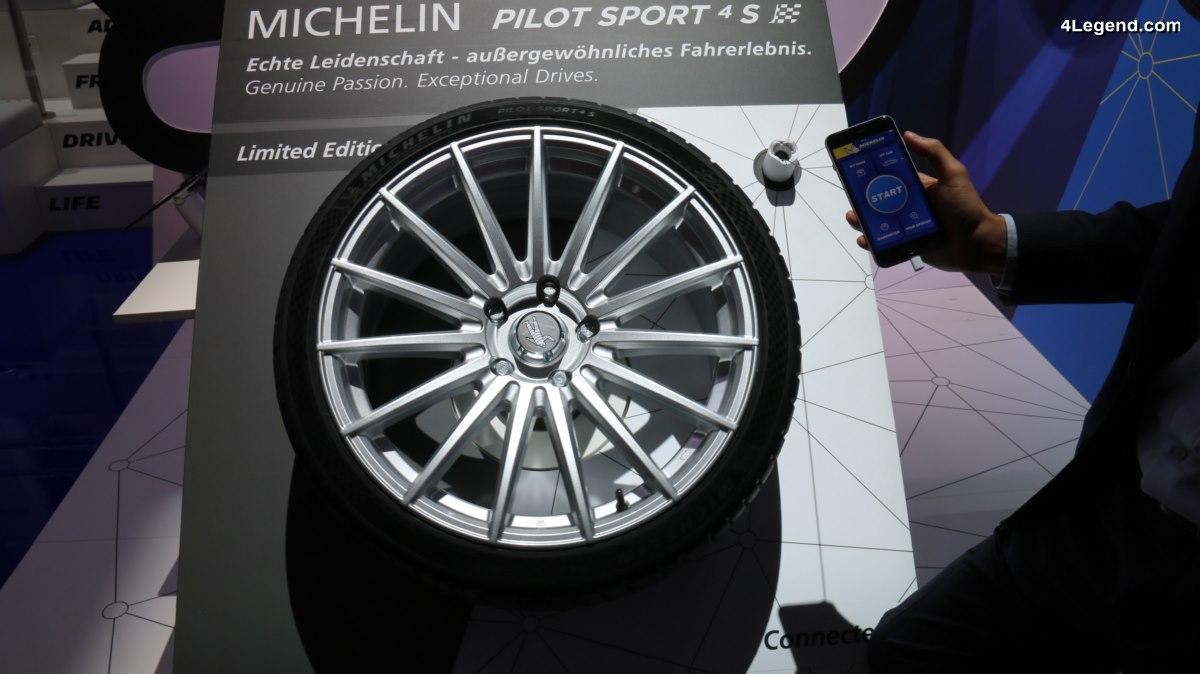 IAA 2017 - Pneu connecté Michelin Pilot Sport 4 S : une nouvelle expérience apportée au conducteur