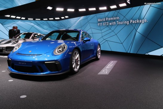 IAA 2017 – Première mondiale de la Porsche 911 GT3 avec Pack Touring