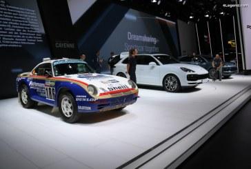 IAA 2017 – Porsche 959 Paris-Dakar 1986 en vedette aux côtés du nouveau Porsche Cayenne Turbo