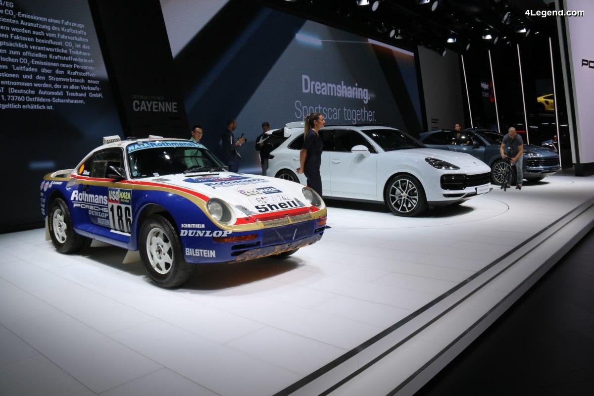 IAA 2017 - Porsche 959 Paris-Dakar 1986 en vedette aux côtés du nouveau Porsche Cayenne Turbo
