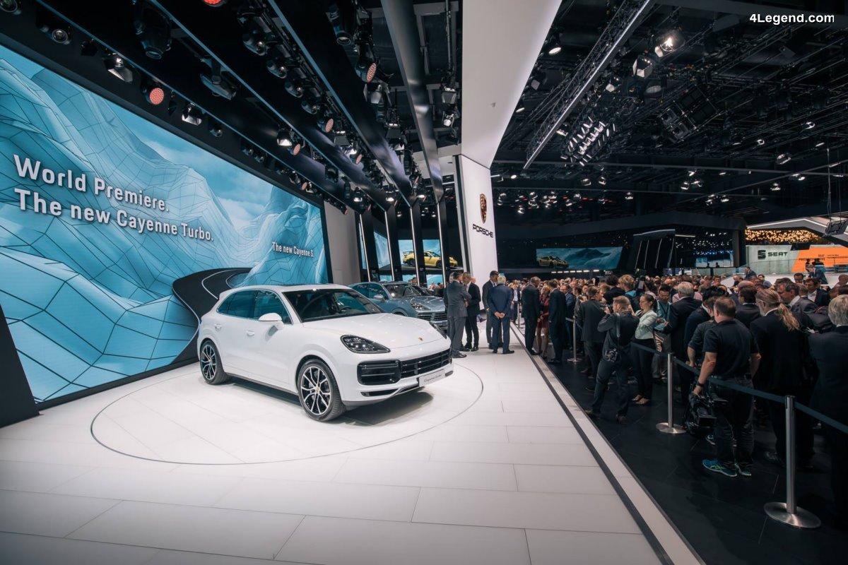 IAA 2017 - Nouveau Porsche Cayenne Turbo