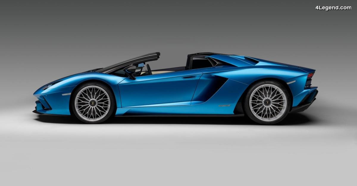 Nouvelle Lamborghini Aventador S Roadster - 740 ch cheveux au vent