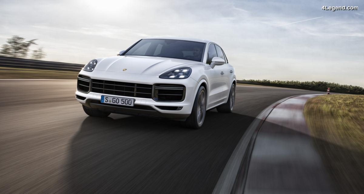 Nouveau Porsche Cayenne Turbo - 550 ch, une aérodynamique active et des freins hautes performances