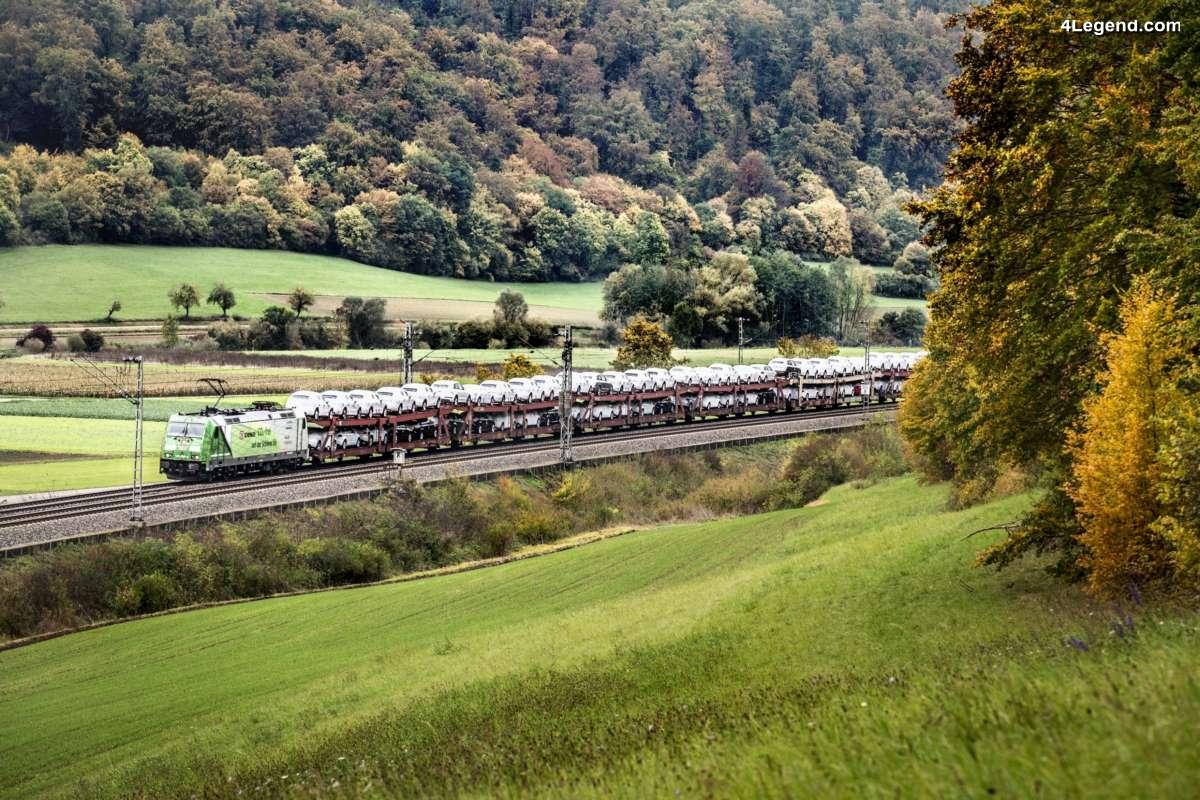 Audi transporte ses voitures neuves par train dans toute l'Allemagne grâce à l'électricité verte