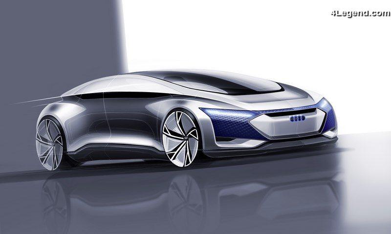 Audi Elaine Prix >> Concept car Audi AIcon - La voiture autonome du futur - 4Legend.com - AudiPassion.com