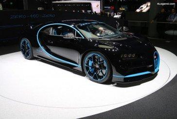 IAA 2017 – Bugatti Chiron ayant battu le record du monde du 0 – 400 – 0 km/h en moins de 42 s