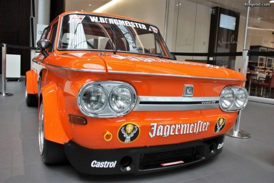 NSU TT Jägermeister, la légende exposée à l'Audi Forum Neckarsulm.