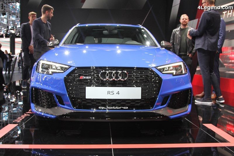 iaa 2017 audi rs 4 avant bleu nogaro pas assez agressive. Black Bedroom Furniture Sets. Home Design Ideas