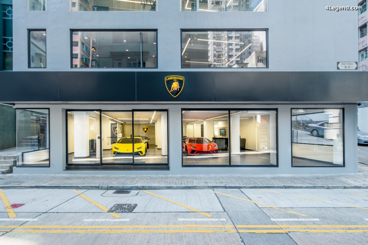 Inauguration d'un nouveau showroom Lamborghini à Hong Kong