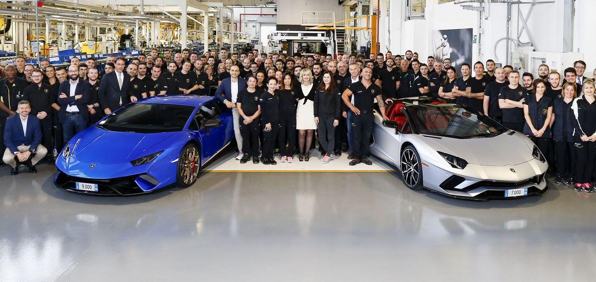 Records de production pour Lamborghini : 7000 Aventador et 9000 Huracán en six ans et trois ans