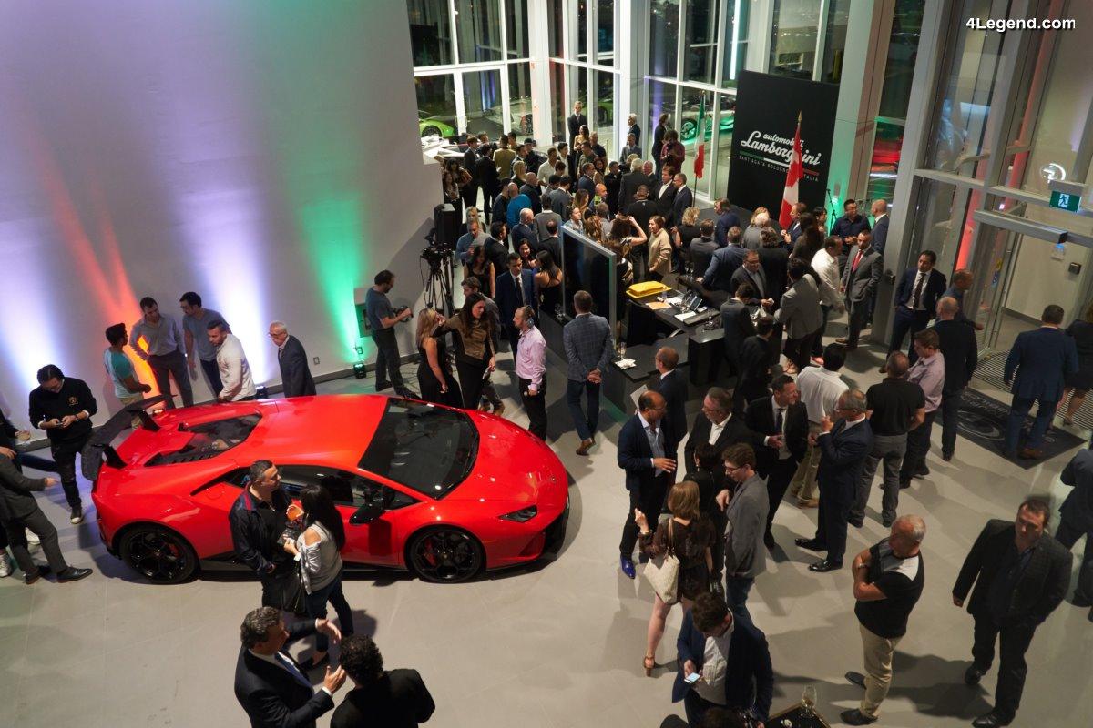 Ouverture de deux nouvelles concessions Lamborghini en Amérique du Nord adoptant le nouveau design