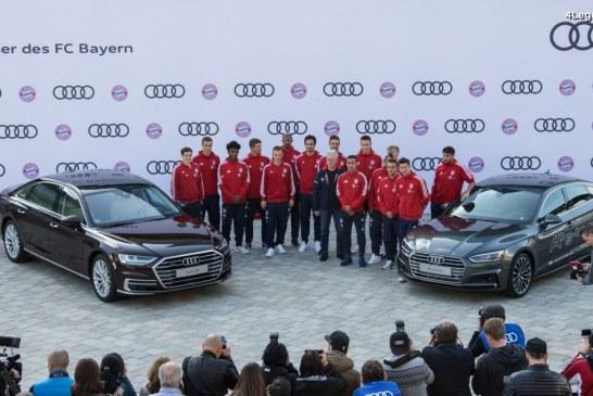 Le FC Bayern München reçoit de nouveaux modèles Audi