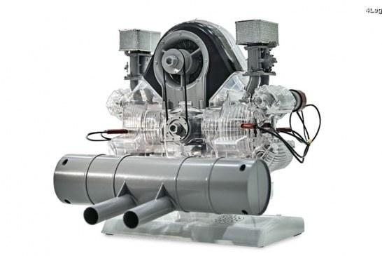 Le moteur Fuhrmann Flat 4 Type 547 de Porsche en miniature à l'échelle 1:3 by Franzis – Disponible en 2018