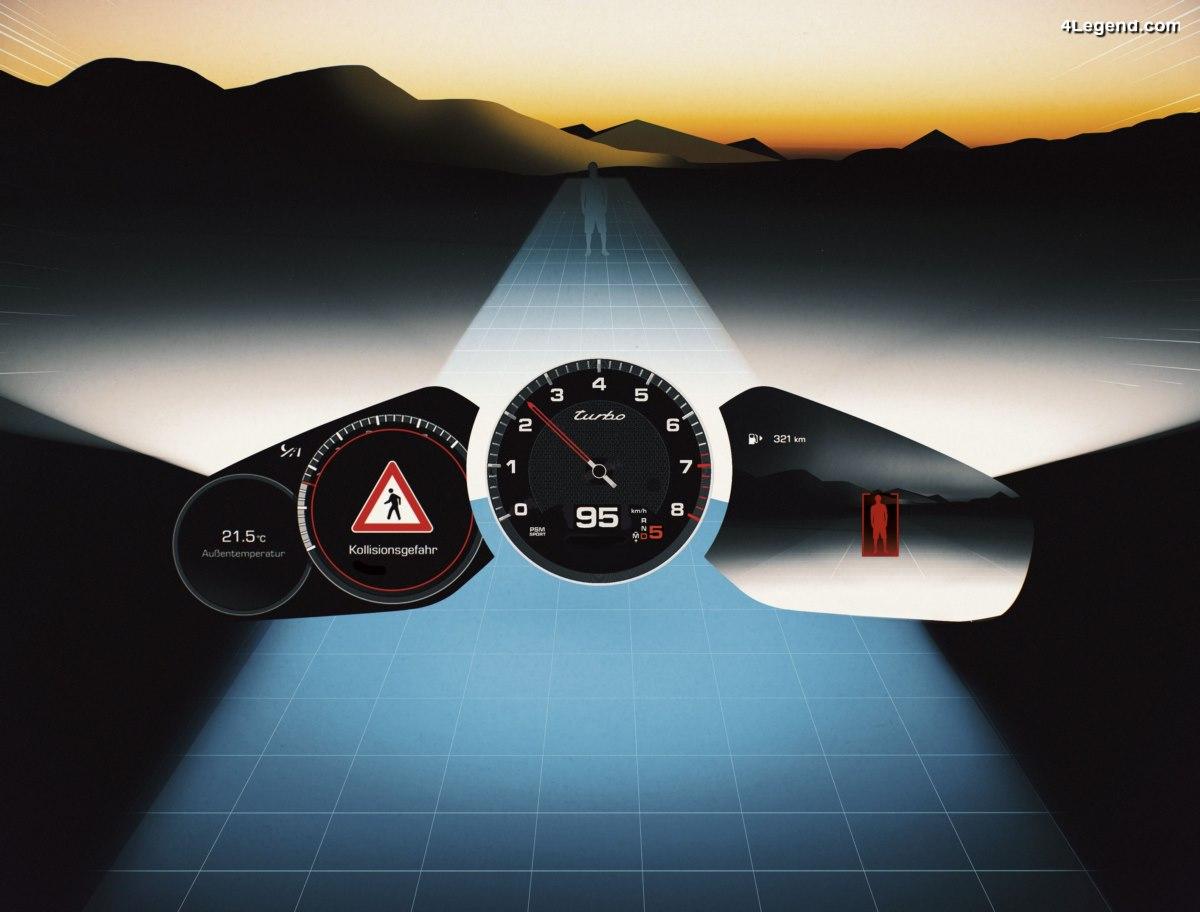 Porsche Night Vision Assist - La conduite de nuit améliorée grâce à l'imagerie thermique