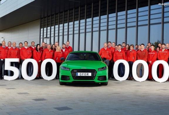 500 000 Audi construites dans l'usine Audi à Győr en Hongrie