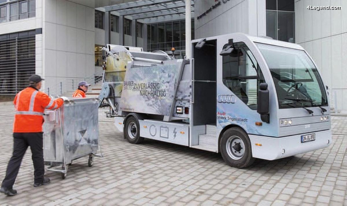 L'EcoTruck au sein de l'usine Audi d'Ingolstadt - Un camion électrique collectant les matières recyclables