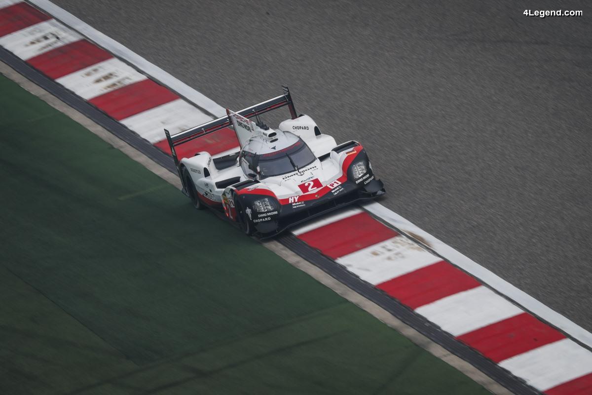 WEC - Les 2 Porsche 919 Hybrid en 2ème et 4ème place sur la grille de départ à Shanghai