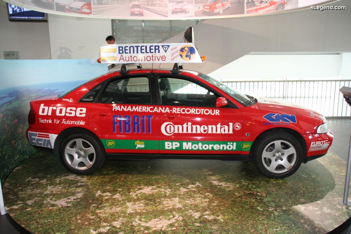 Audi A4 quattro Panamericana de 1995 - Record de la traversée du continent américain