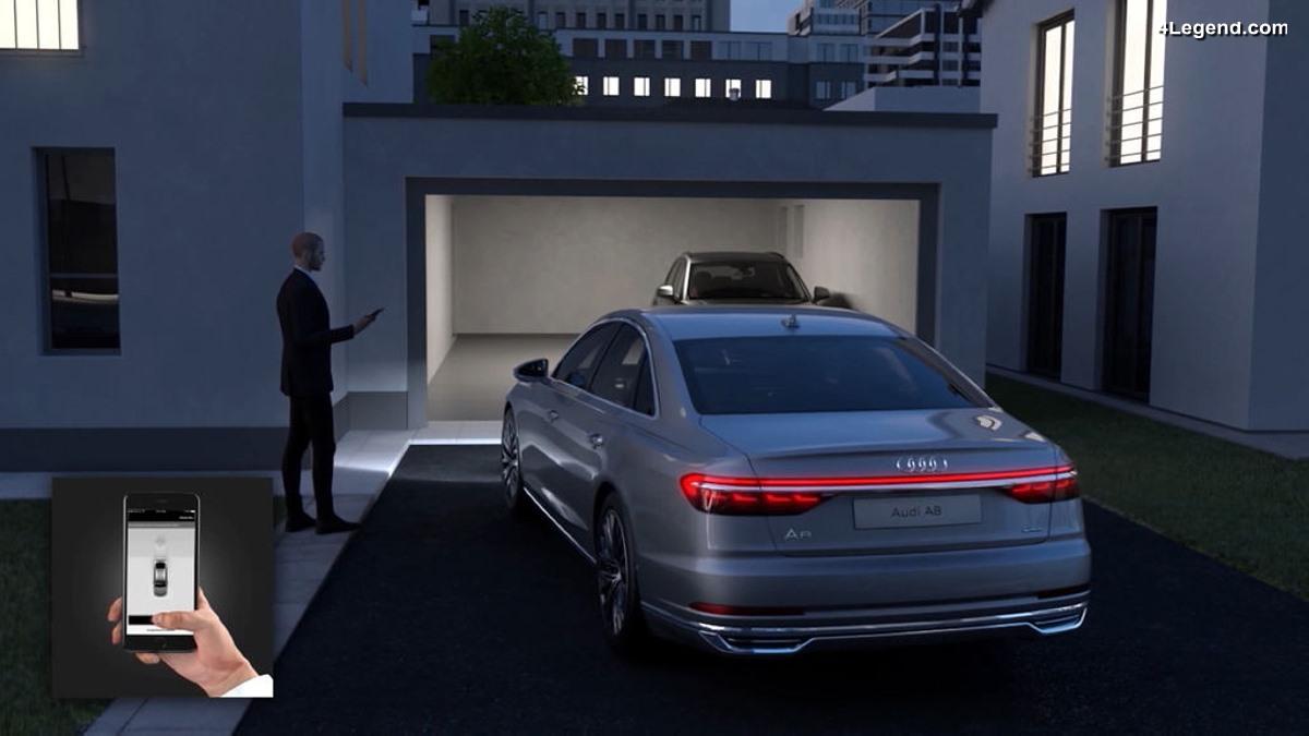 Fonctionnement de l'Audi AI parking pilot et garage pilot sur la nouvelle Audi A8 D5
