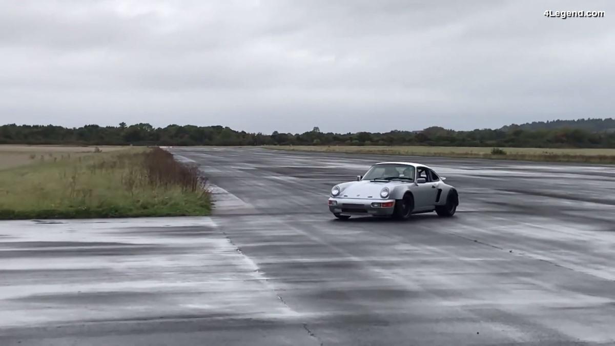Premiers essais sur piste d'une Porsche 911 dotée du nouveau moteur Flat 6 de 500 ch proposé par Singer