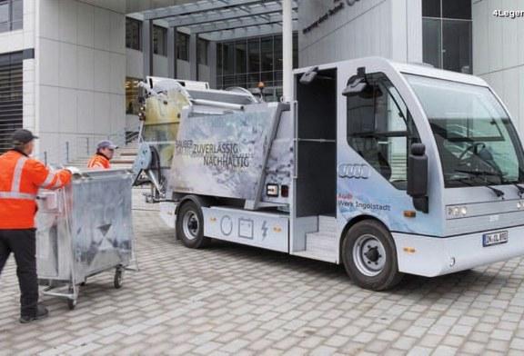 L'EcoTruck au sein de l'usine Audi d'Ingolstadt – Un camion électrique collectant les matières recyclables