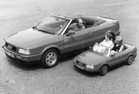 Mini-cabriolet Audi pour enfants – Une Audi 80 Cabriolet thermique miniature pour conduire comme les grands