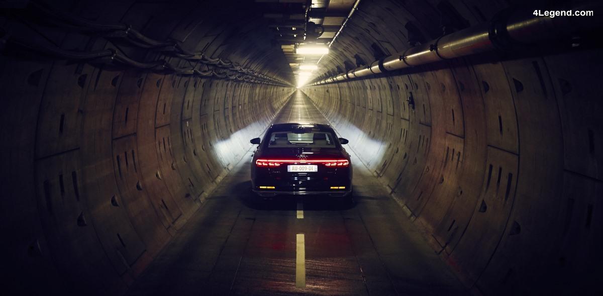 Une expérience inédite à bord de la nouvelle Audi A8 dans le tunnel sous la manche - #forgetthetime